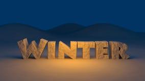 3D冬天文本 免版税库存图片