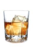 3d冰例证威士忌酒 图库摄影
