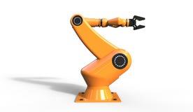 3d凉快的工业机器人胳膊翻译在白色的 图库摄影