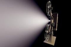 3D减速火箭的电影放映机的例证 免版税库存照片