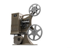 3D减速火箭的电影放映机的例证 库存照片
