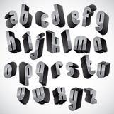 3d几何大胆的字体 库存照片