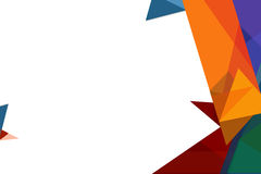 3d几何形状重叠抽象背景 免版税库存照片