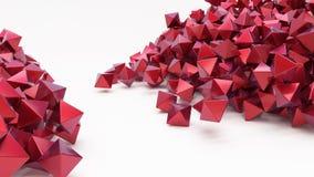 3D几何抽象六角墙纸背景 免版税库存照片