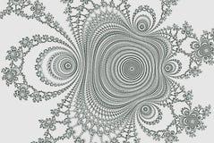 3d分数维或横幅 彩图的分数维3d可变的形状 抽象单色未来派轻的背景 库存例证