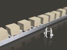 3D包裹交付的例证 库存例证