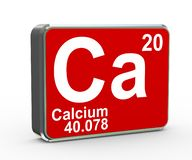 3d化学元素钙物质期间桌 向量例证