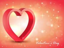 3D华伦泰` s天庆祝的心脏 免版税库存图片