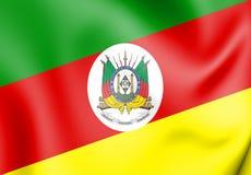 3D南里奥格兰德州,巴西旗子  向量例证