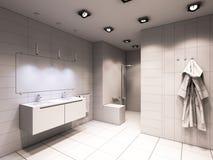 3D卫生间的例证没有颜色和纹理的 免版税图库摄影