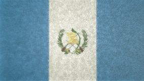 3D危地马拉的旗子的图象 图库摄影