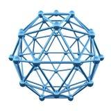 3D原子wireframe 库存图片