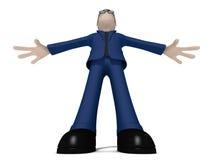 3D反对角度的漫画人物 向量例证