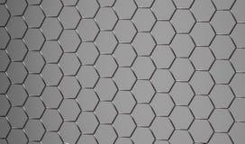 3D发光的抽象灰色金属表面 库存照片