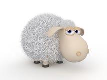 3d可笑绵羊。 库存照片