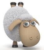3d可笑绵羊 免版税库存照片