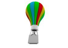 3d商人和气球 免版税库存图片