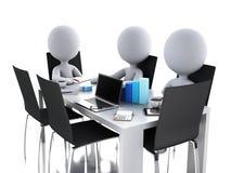 3d商人在办公室会议室 库存照片
