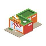3D商店的等量概念前面 10 eps例证盾向量 免版税库存照片