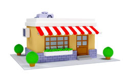 3d商店象 库存例证