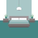 3d四周被回报的卧室内部闪电 图形设计的对象 向量例证