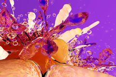 3D回报了一个生物细胞的例证 免版税图库摄影