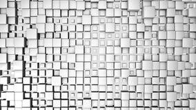 3D回报了与白色立方体动画的背景 库存例证