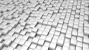 3D回报了与白色立方体动画的背景 向量例证