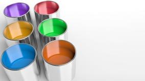 3d回报了油漆罐子 免版税库存照片