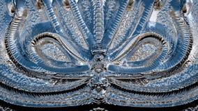 3D回报了装饰金属表面纹理 向量例证