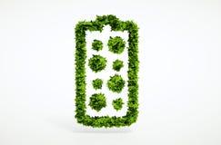 3d回报供选择的新的电池概念 免版税库存照片