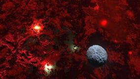 3d回报在空间的一个行星 库存照片