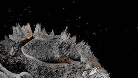 3d回报宇宙风景作为背景或环境 从空间视图的行星从航天器非常详述了 向量例证