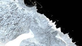 3d回报宇宙风景作为背景或环境 从空间视图的行星从航天器非常详述了 库存例证