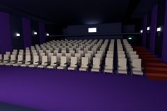 3d回报戏院 库存照片
