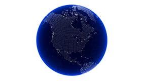 3d回报数字式地球 美国 亚马逊 皇族释放例证
