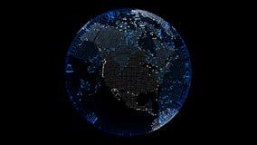 3d回报数字式地球 美国 亚马逊 向量例证