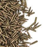 步枪子弹溢出 免版税库存照片