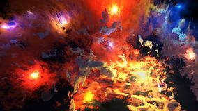 3d回报星云和光亮的星 免版税库存照片