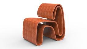 橡木胶合板椅子 向量例证
