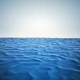3d回报海洋和美丽的蓝天 库存例证
