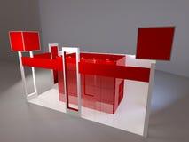 3d回报现代红色陈列立场 向量例证