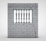 3d回报监狱(监狱)在轻的背景 库存图片