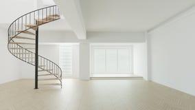 3d回报绝尘室内部白色舒适 库存例证