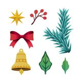 3d回报,圣诞节颜色纸一品红花,欢乐embe 库存图片