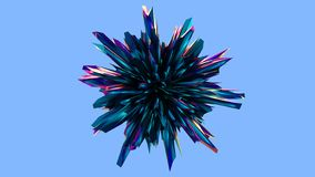 3D回报,水晶球状 向量例证