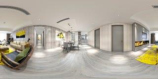3d回报360度客厅 向量例证
