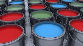 3d回报 装例证油漆向量于罐中 库存照片