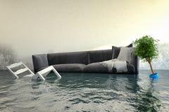3d回报-水damager 库存图片