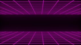 3D回报synthwave wireframe净抽象背景 未来减速火箭的线栅格例证 库存例证